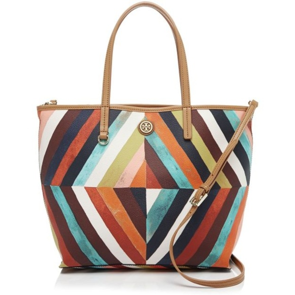 Tory Burch Handbags - Tory Burch 'Kerrington' diamond multi-color tote